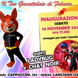 Nuova apertura sabato 10 novembre 2018 – ore 17:00. Via Cappuccini, 152 – Lanciano (CH)